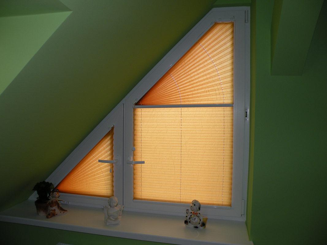 Dreieck und Trapezförmige Fenster Sonnenschutz WW